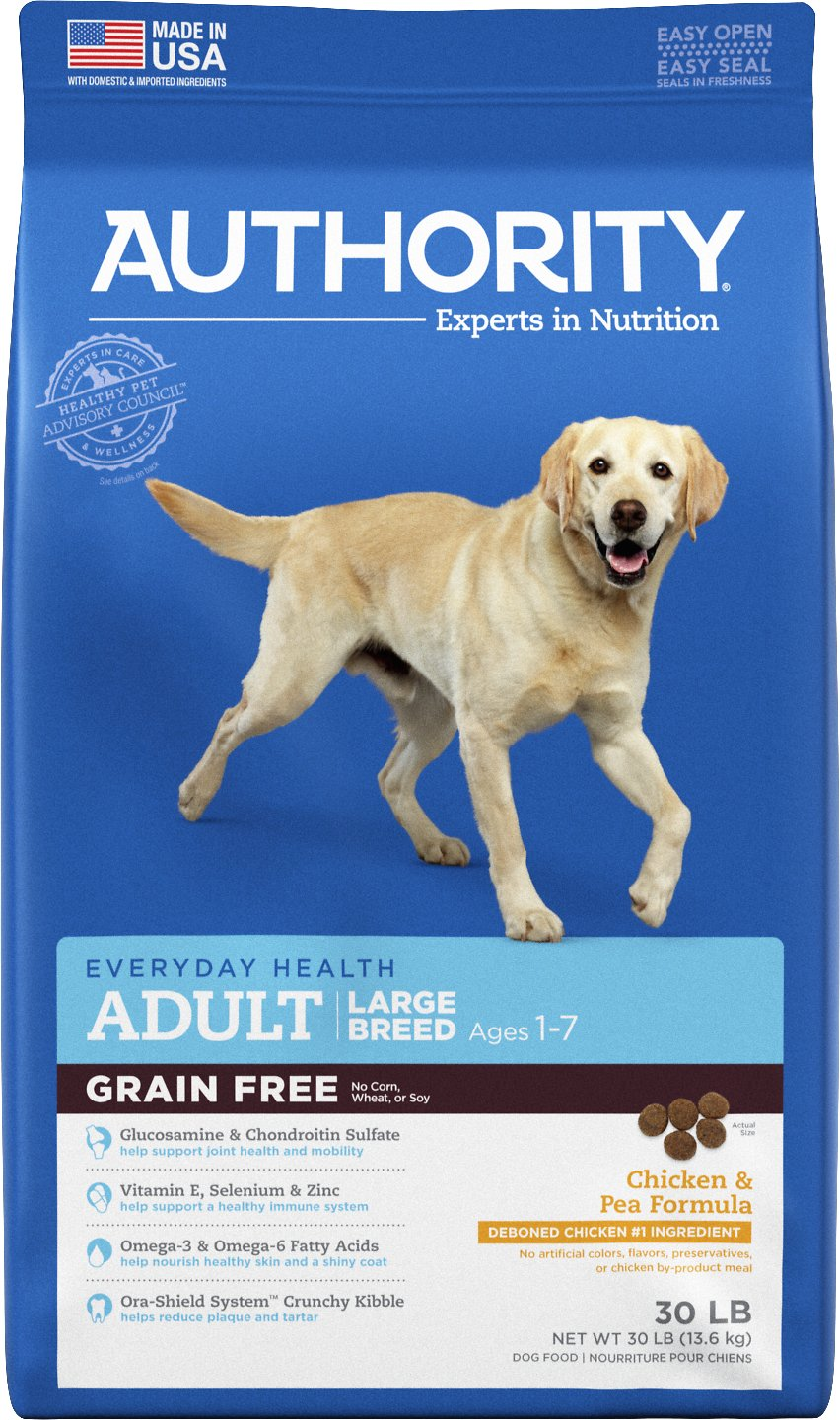 Free Adult Photos authority chicken & pea formula large breed grain-free adult dry dog food,  30-lb bag