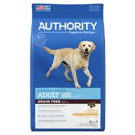 Authority Chicken & Pea Formula Large Breed Grain-Free Adult Dry Dog Food, 30-lb bag