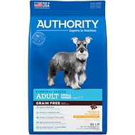 Authority Chicken & Pea Formula Small Breed Grain-Free Adult Dry Dog Food, 30-lb bag