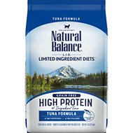 Natural Balance L.I.D. Limited Ingredient Diets High Protein Tuna Formula Dry Cat Food, 5-lb bag