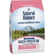 Natural Balance L.I.D. Limited Ingredient Diets High Protein Salmon Formula Dry Cat Food, 11-lb bag
