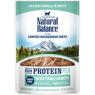 Natural Balance L.I.D. Limited Ingredient Diets High Protein Chicken Formula in Broth Wet Cat Food, 2.5-oz, case of 24