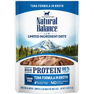 Natural Balance L.I.D. Limited Ingredient Diets High Protein Tuna Formula in Broth Wet Cat Food, 2.5-oz, case of 24