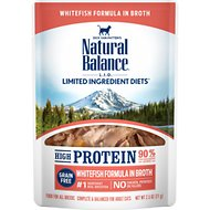 Natural Balance L.I.D. Limited Ingredient Diets High Protein Whitefish Formula in Broth Wet Cat Food, 2.5-oz, case of 24