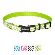 Frisco Patterned Reflective Dog Collar, Diamond Tile, X-Small