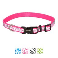Frisco Patterned Reflective Dog Collar, Animal Print, X-Small
