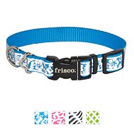 Frisco Patterned Reflective Dog Collar, Hawaiian Floral, Small