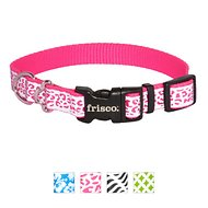 Frisco Patterned Reflective Dog Collar, Animal Print, Small