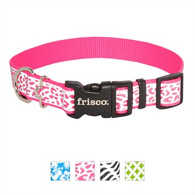Frisco Patterned Polyester Reflective Dog Collar
