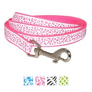 Frisco Patterned Reflective Dog Leash, Animal Print, 6-ft, 5/8-in