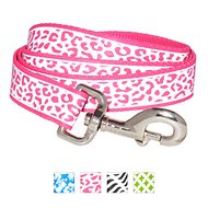 Frisco Patterned Reflective Dog Leash, Animal Print, 6-ft, 1-in