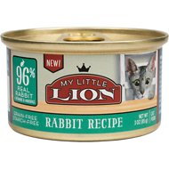 My Little Lion 96% Rabbit Recipe Grain-Free Canned Cat Food, 3-oz, case of 24