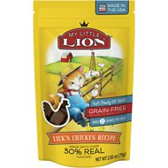 My Little Lion Lick'n Chicken Recipe Grain-Free Cat Treats, 2.65-oz bag