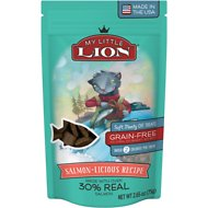 My Little Lion Salmon-Licious Recipe Grain-Free Cat Treats, 2.65-oz bag