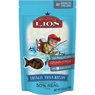 My Little Lion Totally Tuna Recipe Grain-Free Cat Treats, 2.65-oz bag
