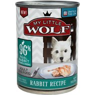 My Little Wolf 96% Rabbit Recipe Grain-Free Canned Dog Food, 13-oz, case of 12
