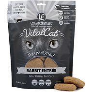 Vital Essentials Rabbit Mini Patties Grain Free Limited Ingredient Freeze-Dried Cat Food, 8-oz bag