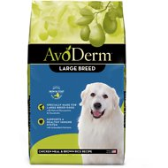 AvoDerm Natural Chicken Meal & Brown Rice Formula Large Breed Adult Dry Dog Food, 26-lb bag
