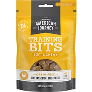 American Journey Chicken Recipe Grain-Free Soft & Chewy Training Bits Dog Treats, 4-oz bag