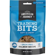 American Journey Salmon Recipe Grain-Free Soft & Chewy Training Bits Dog Treats, 4-oz bag