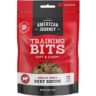 American Journey Beef Recipe Grain-Free Soft & Chewy Training Bits Dog Treats, 4-oz bag
