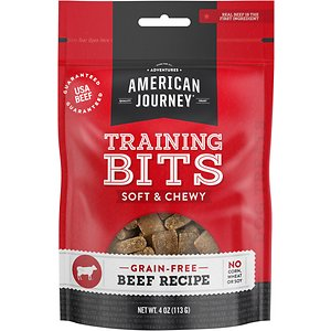 American Journey Beef Recipe Grain-Free Soft & Chewy Training Bits Dog Treats