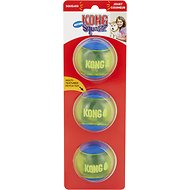 KONG Squeezz Action Ball Dog Toy, Blue, Medium
