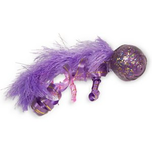 KONG Cat Confetti Cat Toy, Color Varies; Watch your feline friend fulfill her instinctual desires to chase and pounce with KONG's Cat Confetti cat toy. This glittery ball has a tail made up of curly ribbons, feathers and a bell to keep your cat completely enthralled. You can roll it across the floor and watch as your furbaby chases it or you can hold it above her head and watch her bunny kick at the ribbons and feathers. However your pal purr-fers to play with her new toy, it's bound to provide hours of continuous fun and excitement!