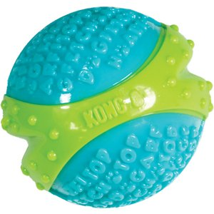 KONG Core Strength Ball Dog Toy, Medium; KONG's Core Strength Ball is specially designed with chewers in mind. This durable toy is built to bring dogs excitement, extended play time and plenty of chew time with its multilayered core. The extra layers in the center make this toy even tougher, while the textured exterior is designed to help encourage healthy gums and teeth as your pal chews. With interactive play like a friendly game of fetch, you'll be able to strengthen the bond you have with your furry friend even further! Best of all, this toy comes in more than one size, so you can choose the right one for your pal.