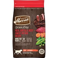 Merrick Grain-Free Real Buffalo, Beef + Sweet Potato Recipe Dry Dog Food, 22-lb bag