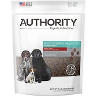 Authority Multivitamin & DHA Support Bacon Flavor Training Dog Treats, 1.5-lb bag