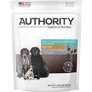 Authority Multivitamin & DHA Support Chicken Flavor Training Dog Treats, 1.5-lb bag