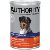 Authority Pumpkin Puree Canned Dog Food Supplement, 15-oz, case of 12
