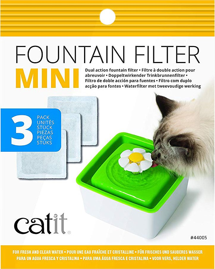 Catit Mini Flower Pet Fountain Filter 3 Pack Chewycom