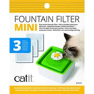 Catit Mini Flower Pet Fountain Filter, 3 pack