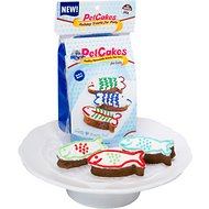 PetCakes Turkey Flavor Microwavable Holiday Cake Mix Kit With Fish Shaped Pan Cat Treat, 4.6-oz bag