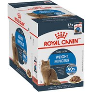 Royal Canin Ultra Light Chunks in Gravy Adult Cat Food Pouches, 3-oz, case of 12