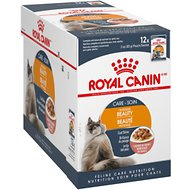Royal Canin Intense Beauty Chunks in Gravy Adult Cat Food Pouches, 3-oz, case of 12