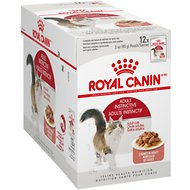 Royal Canin Adult Instinctive Chunks in Gravy Cat Food Pouches, 3-oz, case of 12