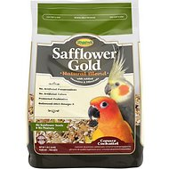 Higgins Safflower Gold Natural Mix Conure & Cockatiel Bird Food, 3-lb bag