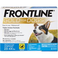 Frontline Gold Flea & Tick Treatment for Medium Dogs (23-44 pounds), 3 treatments