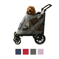 Pet Gear Excursion No-Zip Dog & Cat Stroller, Dark Platinum