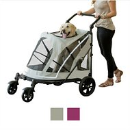 Pet Gear Expedition No-Zip Dog & Cat Stroller, Fog