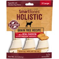 SmartBones Holistic Large Chicken Bones Grain-Free Dog Treats, 3 count