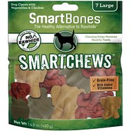 SmartBones Large Smart Chews Grain-Free Dog Treats, 7 count