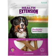 Health Extension Probiotic Yogurt Dental Bones Dog Treats, Large, 3 count