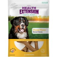Health Extension Cheese Dental Bone Dog Treats, Large, 3 count