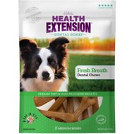 Health Extension Fresh Breath Dental Bones Dog Treats, Medium, 8 count