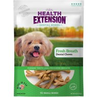Health Extension Fresh Breath Dental Bones Dog Treats, Small, 14 count
