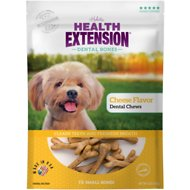 Health Extension Cheese Dental Bone Dog Treats, Small, 14 count